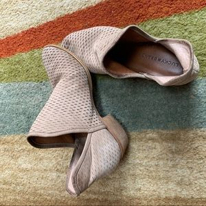 Beige Ankle Booties (Lucky Brand)